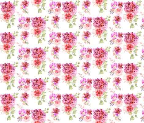 Summer Garden in Pink fabric by theartwerks on Spoonflower - custom fabric