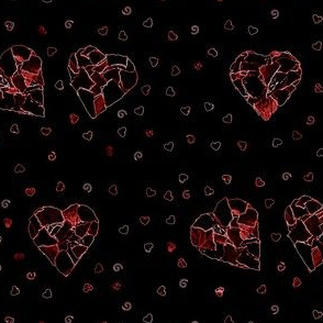 Black (and red) hearts