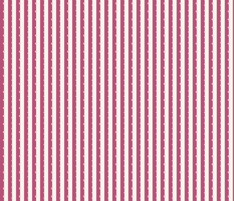 Hearts on Purple Strips fabric by punqd_designs on Spoonflower - custom fabric