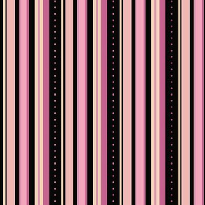 Pink and Black Stripes
