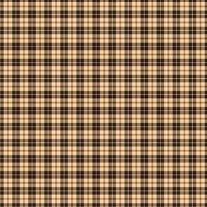 Cream and brown tartan