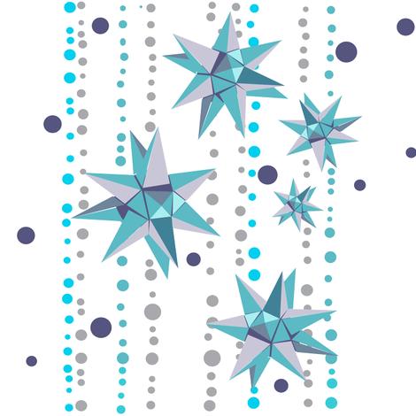 Stellar spangles fabric by mezzones on Spoonflower - custom fabric