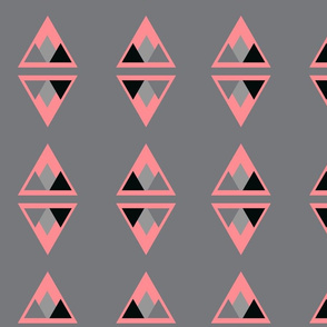 Triangles Within_Pink