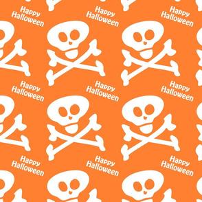 Happy Halloween Skull Crossbones