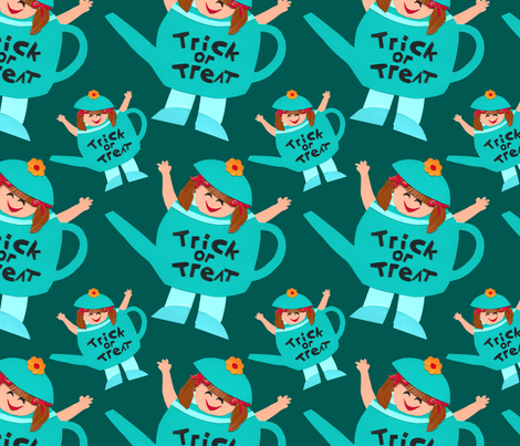 Trick or Treat Girl fabric by lesrubadesigns on Spoonflower - custom fabric