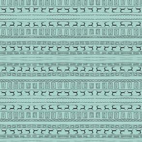 Black Reindeer on Blue_Background_Stripe-1