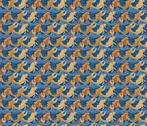 Water Horses fabric by stephanino on Spoonflower - custom fabric