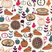 Pies // thanksgiving food apple pie pumpkin food