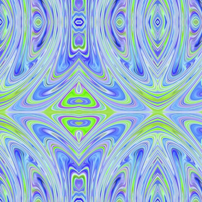 Green & Blue Swirly Abstract