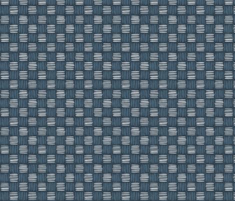 checkered hatch danish blue fabric by glimmericks on Spoonflower - custom fabric