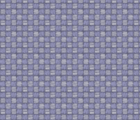 checkered hatch periwinkle fabric by glimmericks on Spoonflower - custom fabric