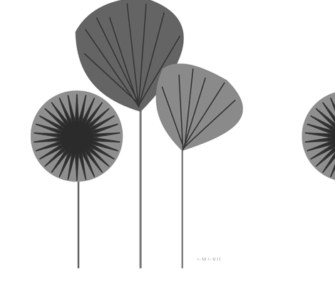 mid_century_modern_seed_pods_grey fabric by hot4tees_bg@yahoo_com on Spoonflower - custom fabric