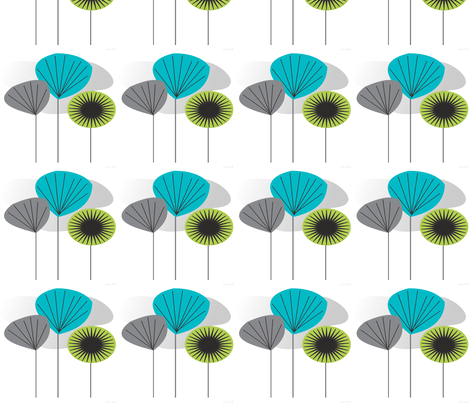 Mid-Century Modern Seed Pods fabric by hot4tees_bg@yahoo_com on Spoonflower - custom fabric