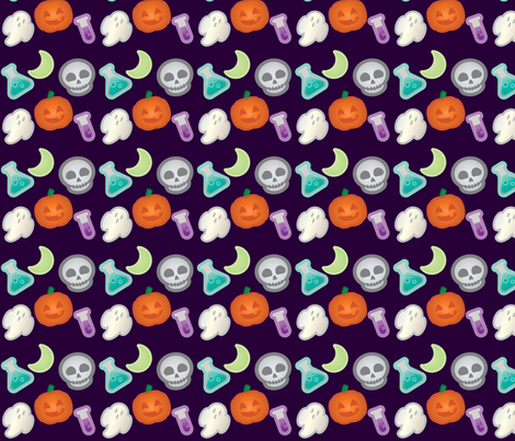 Halloween Retro-Pop Icons fabric by juliematthews on Spoonflower - custom fabric