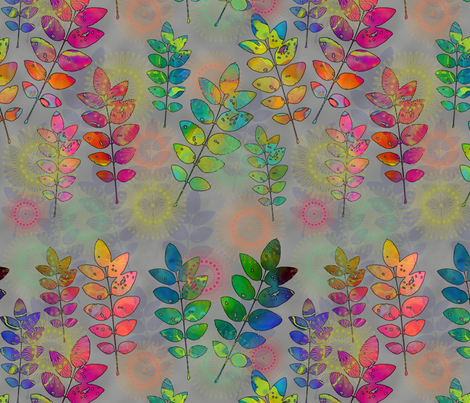 Rainbow Leaves fabric by dianedoran on Spoonflower - custom fabric