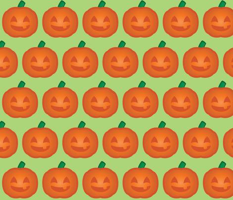 Halloween Retro-Pop Pumpkin fabric by juliematthews on Spoonflower - custom fabric