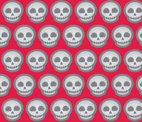 Halloween Retro-Pop Skulls fabric by juliematthews on Spoonflower - custom fabric