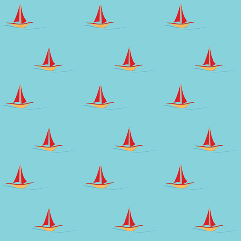 165_Sailing fabric by witee on Spoonflower - custom fabric