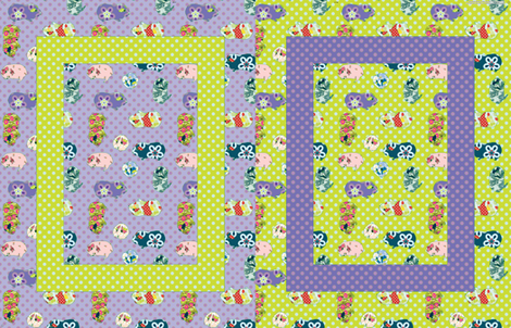 Baby Blanket Guinea Pigs - Gender Neutral. fabric by anntuck on Spoonflower - custom fabric