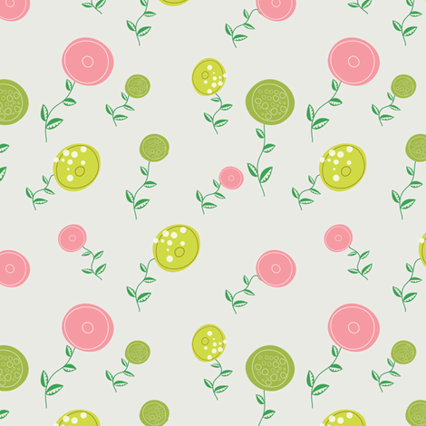 93-Fun Flowers fabric by witee on Spoonflower - custom fabric
