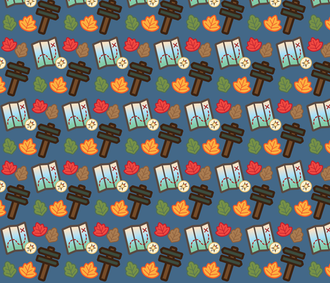 Woodland Travel  fabric by juliematthews on Spoonflower - custom fabric