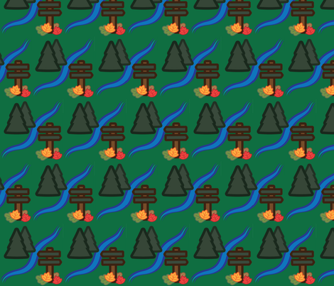 Woodland Travel - Forest and Stream fabric by juliematthews on Spoonflower - custom fabric