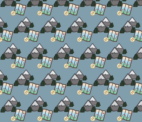 Woodland Travel - Mountains and Maps fabric by juliematthews on Spoonflower - custom fabric