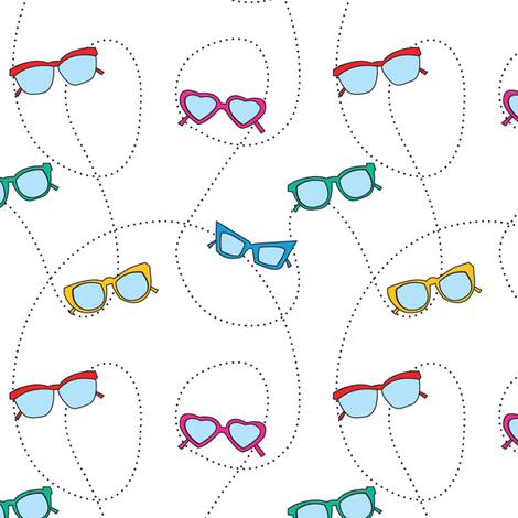 107-Glasses fabric by witee on Spoonflower - custom fabric