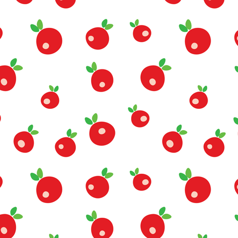 Apples fabric by witee on Spoonflower - custom fabric