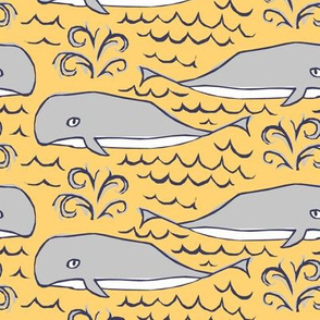 Woodblocks With Whales