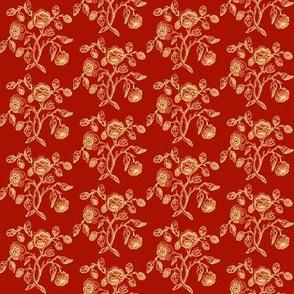 Turkey Red Caslon Rose