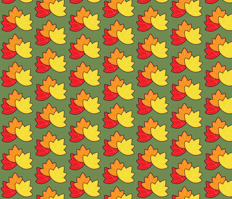 Harvest Leaves fabric by juliematthews on Spoonflower - custom fabric