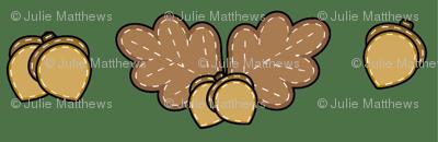 Harvest Oak Leaves and Acorns