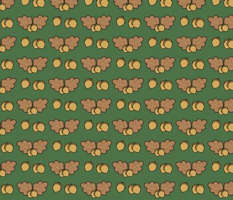 Harvest Oak Leaves and Acorns fabric by juliematthews on Spoonflower - custom fabric