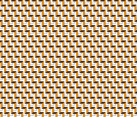 Tangerine and Brown Steps fabric by zev_nz on Spoonflower - custom fabric