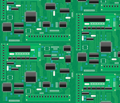 Circuitboard fabric by juliematthews on Spoonflower - custom fabric