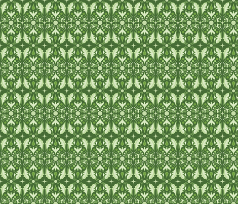 Abstract Leaves - Green fabric by juliematthews on Spoonflower - custom fabric