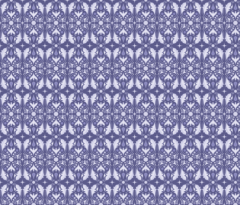 Abstract Leaves - Purple fabric by juliematthews on Spoonflower - custom fabric