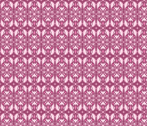 Abstract Leaves - Magenta fabric by juliematthews on Spoonflower - custom fabric
