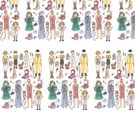 familien-1_2-800 fabric by mariannemathiasen on Spoonflower - custom fabric