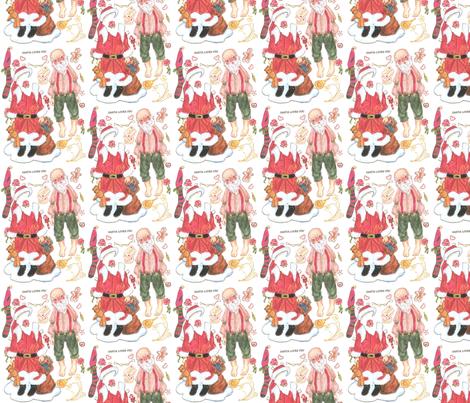 santa-lov fabric by mariannemathiasen on Spoonflower - custom fabric
