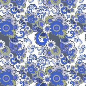 Paisley Plus Daisy (Blue)