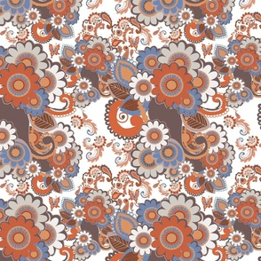 Paisley Plus Daisy (Rust)