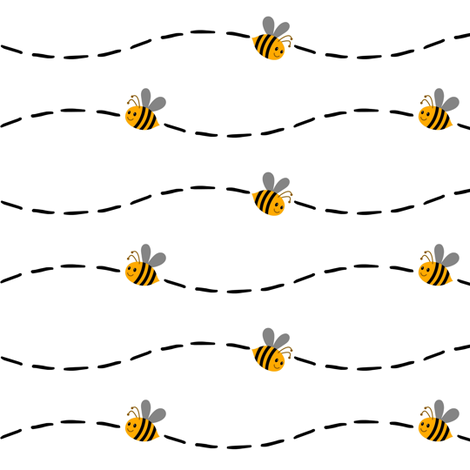 Bee line fabric by keweenawchris on Spoonflower - custom fabric