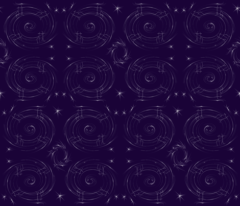 constellationswirl2 fabric by akwdesigns on Spoonflower - custom fabric
