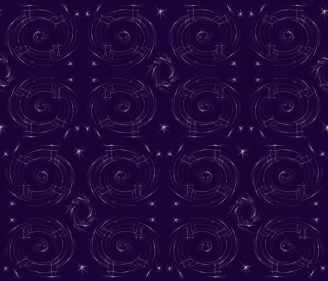 constellationswirl2 fabric by akwdesigns on Spoonflower - custom fabric