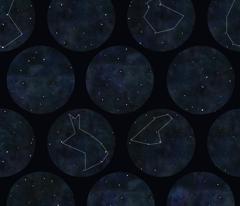 constellation_MeganLittle-02 fabric by littlemeganlittle on Spoonflower - custom fabric
