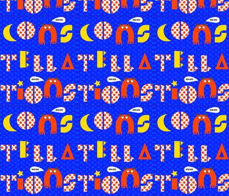 constellations fabric by heloisebp on Spoonflower - custom fabric