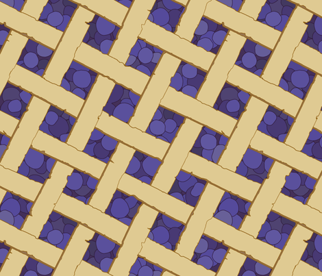 """""""Summer Picnic"""" Blueberry Pie fabric by mjdesigns on Spoonflower - custom fabric"""