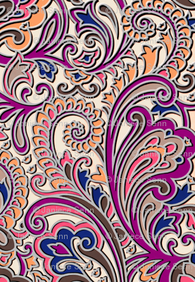 Splish splash 3D paisley